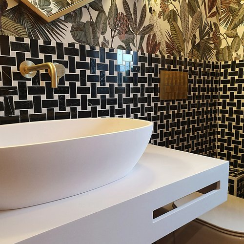 introducing colour to the bathroom